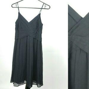 Theory Spageti Strap Silk Black Dress layna size 4